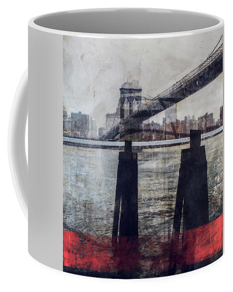 New York Pier - Mug - SEVENART STUDIO