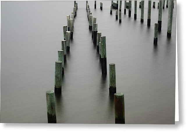 Still Pier - Greeting Card - SEVENART STUDIO