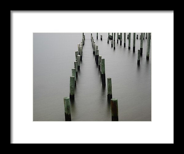 Still Pier - Framed Print - SEVENART STUDIO