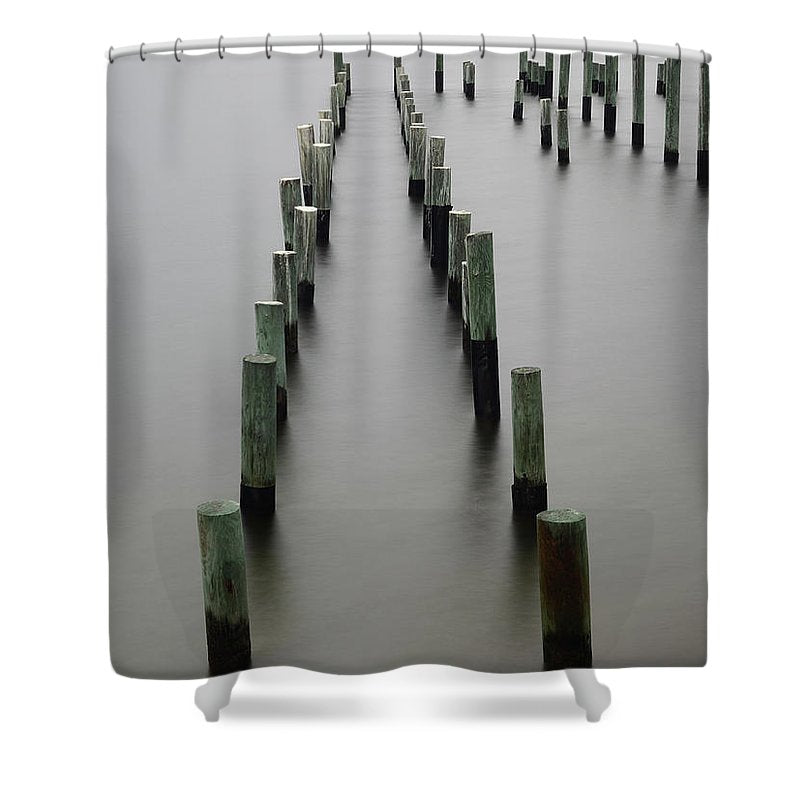 Still Pier - Shower Curtain - SEVENART STUDIO
