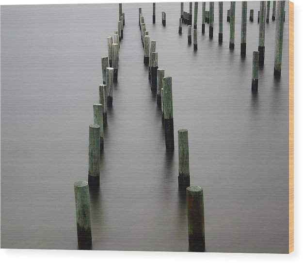 Still Pier - Wood Print - SEVENART STUDIO