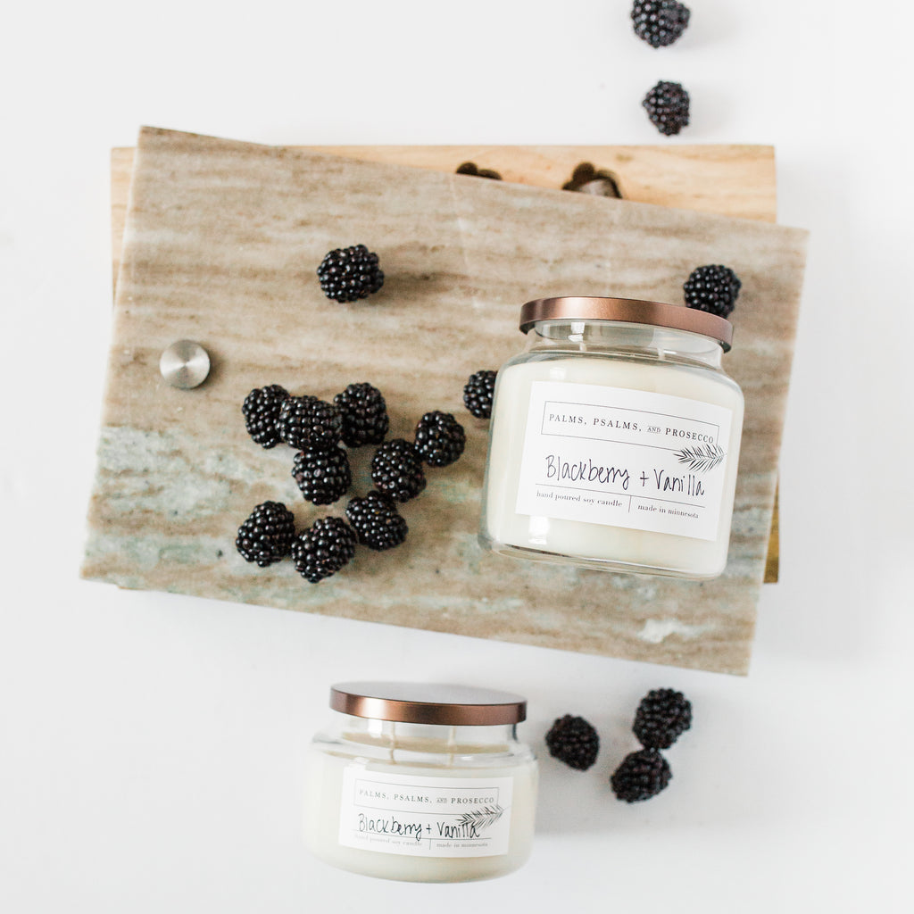 Blackberry Vanilla Soy Candle