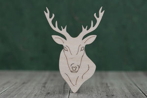 4 mm Plywood Stags Head