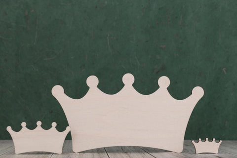 Plywood Princess Crown Shapes