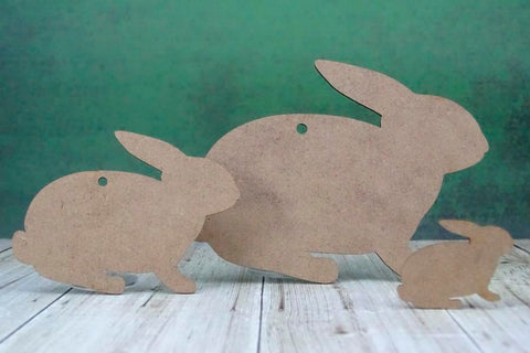 2mm MDF Rabbit Craft Tags