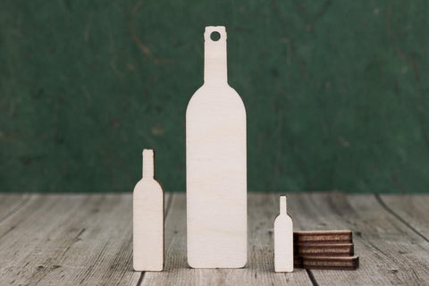 Plywood Wine Bottle Craft Tags