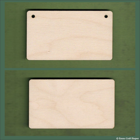4mm Birch plywoodPlaques with rounded corners