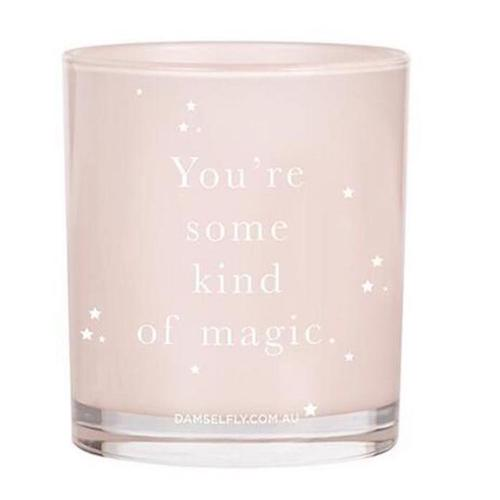 You're Some Kind Of Magic Candle in Blush Pink
