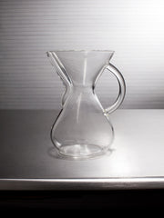 Medium Machine Made Glass Handle Coffee Brewer