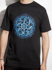 Two-Sided Fractal Male T Shirt
