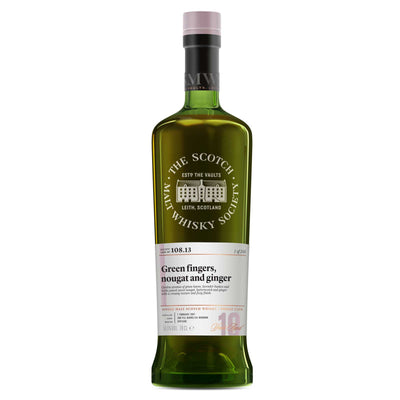 SMWS 108.13 'Green fingers, nougat and ginger' 2007 / 10 years old 59.5%