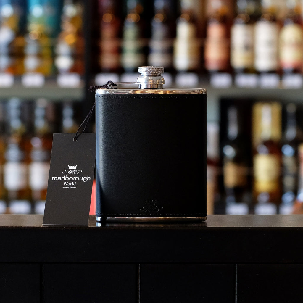 6oz Black Whisky Hip Flask