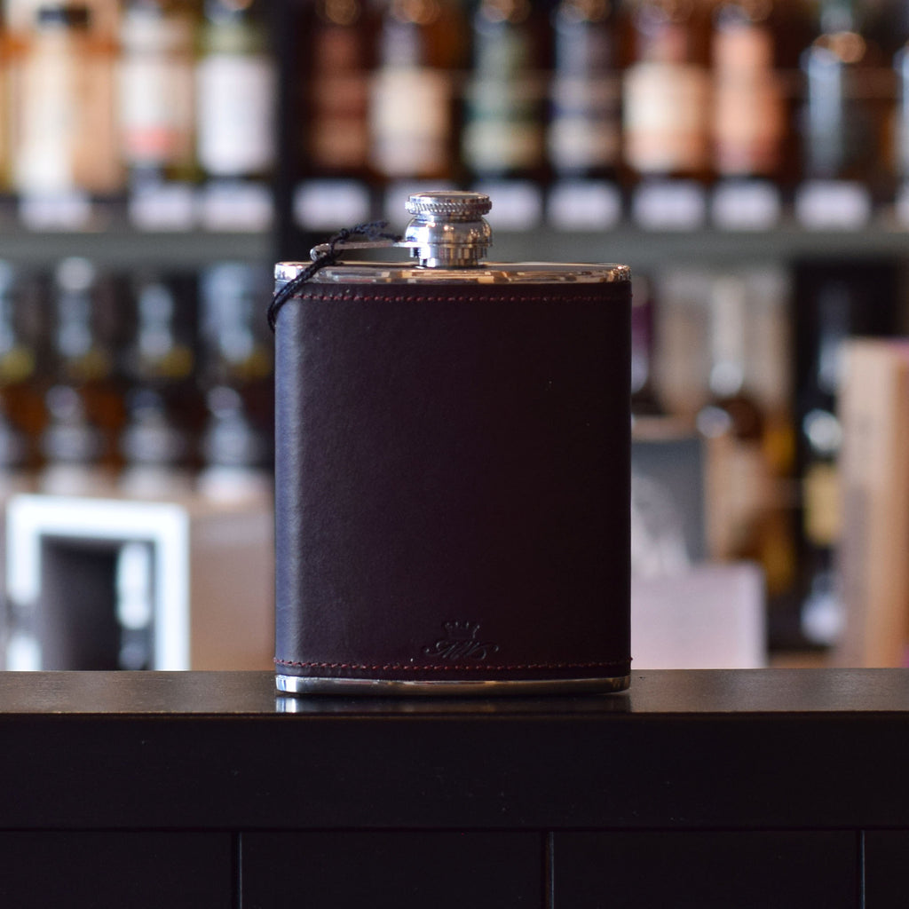 6oz Burgundy Whisky Hip Flask