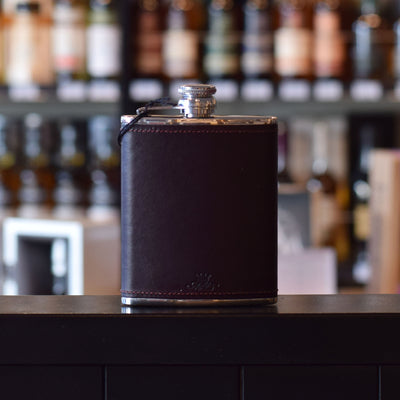 8oz Burgundy Whisky Hip Flask