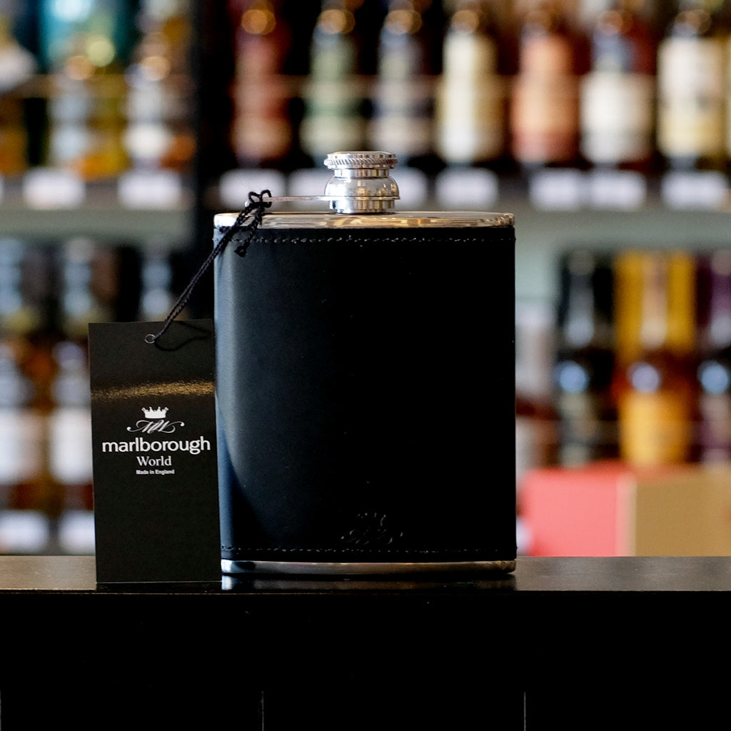8oz Black Whisky Hip Flask