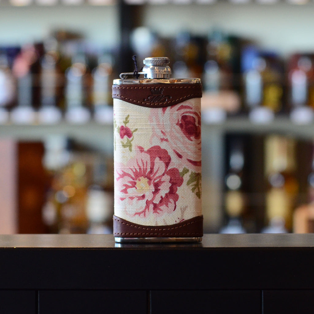 4oz Rose Patterned Whisky Hip Flask