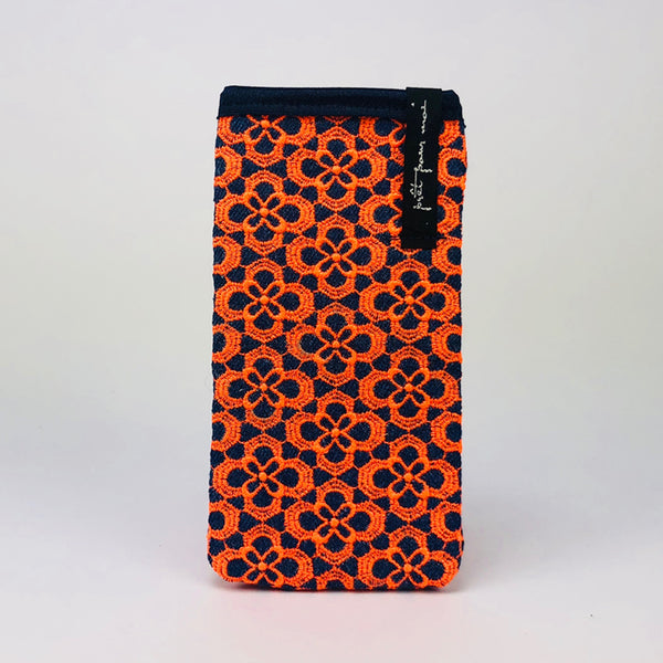 Mobile Case Queens jeans dark blue/neon orange