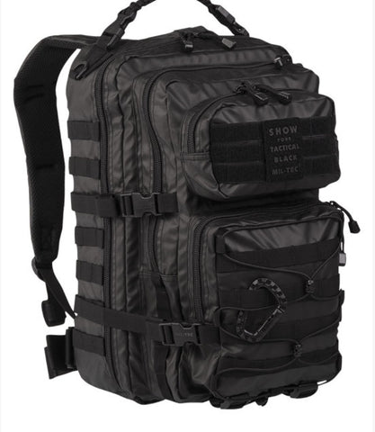 Tactical Black Backpack Us Assault Large