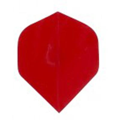 Poly Plain Red Standard Shape Dart Flights