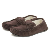 Unisex Sheepskin Lined Moccasin Hard Sole