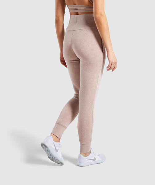 Gymshark High Waisted Joggers - Taupe Marl 1