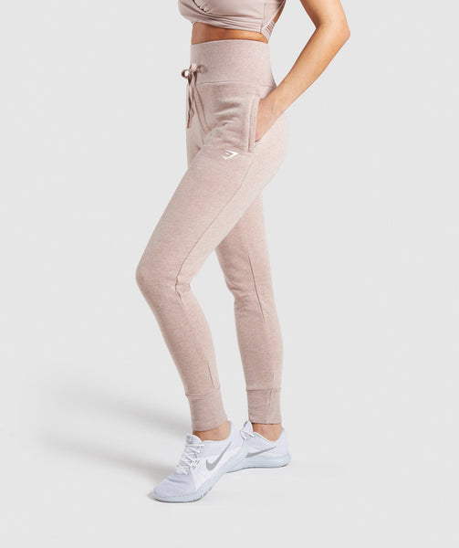 Gymshark High Waisted Joggers - Taupe Marl 2