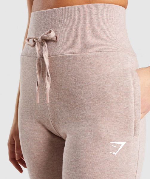 Gymshark High Waisted Joggers - Taupe Marl 4