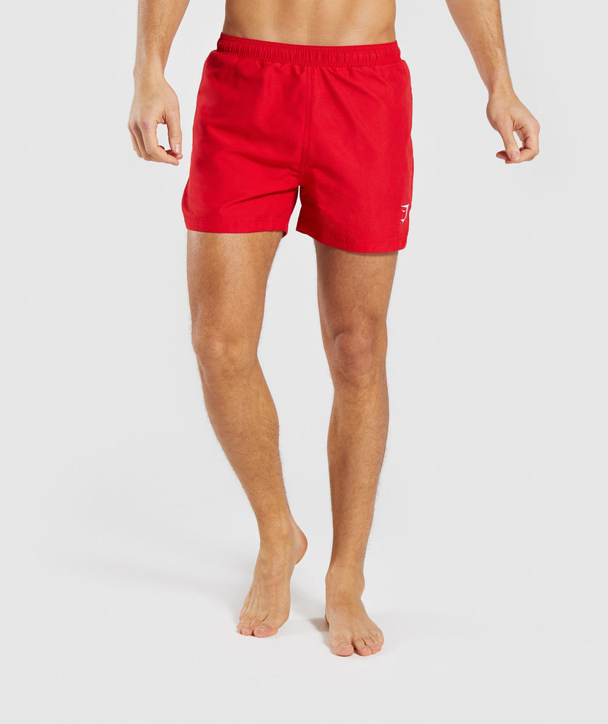 Gymshark Atlantic Swim Shorts - Red 1