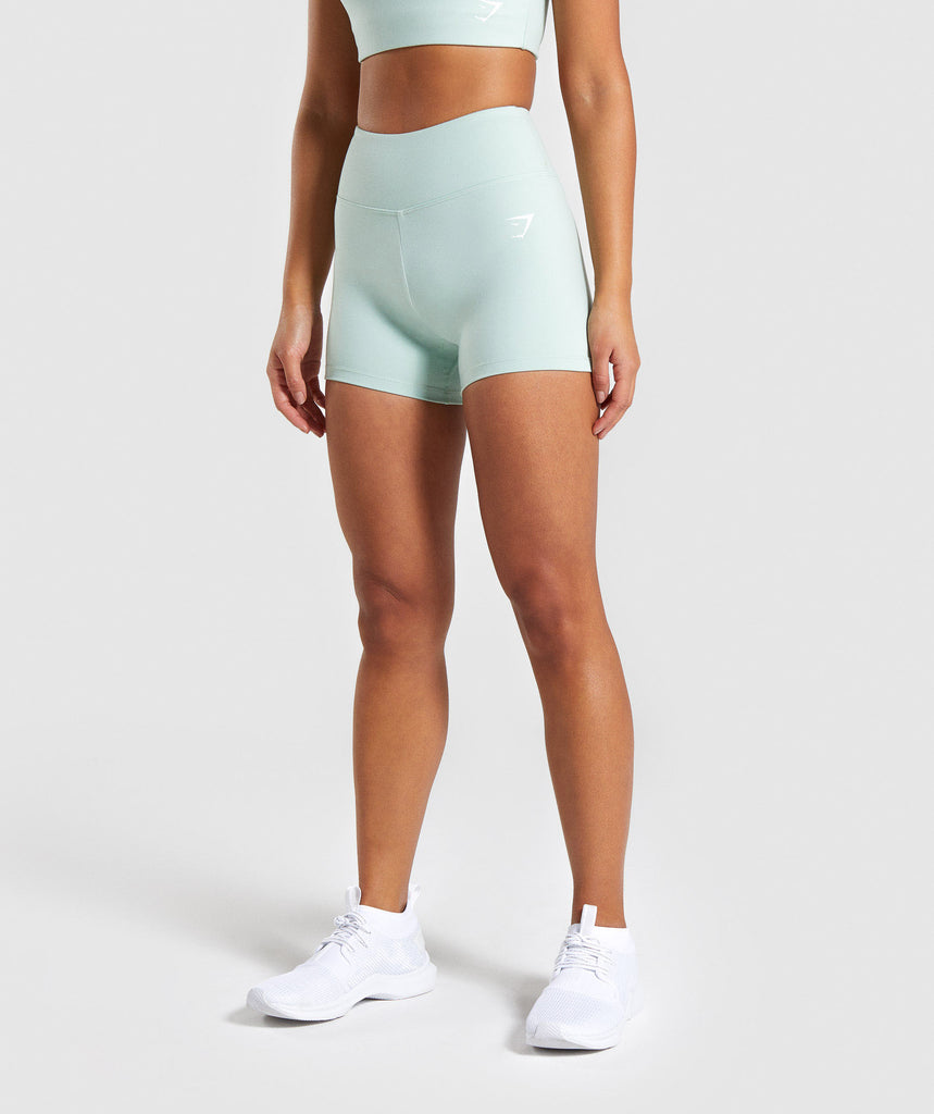 Gymshark Dreamy High Waisted Shorts - Light Green 4