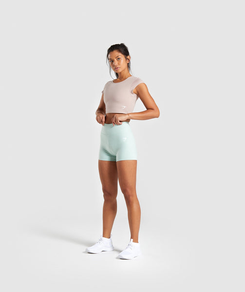 Gymshark Dreamy High Waisted Shorts - Light Green 2