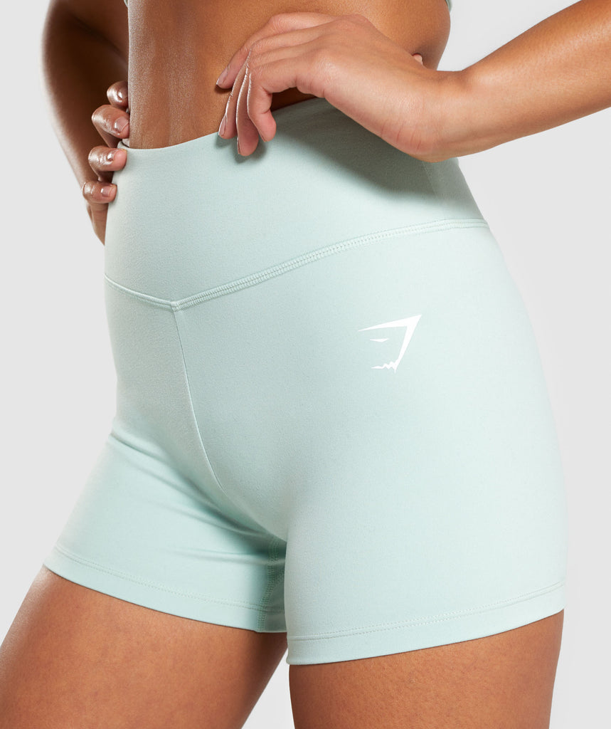 Gymshark Dreamy High Waisted Shorts - Light Green 5