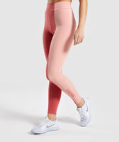 Gymshark Duo Leggings - Brick Red/Peach 7