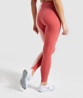 Gymshark Duo Leggings - Brick Red/Peach 8