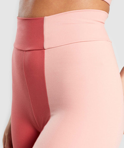 Gymshark Duo Leggings - Brick Red/Peach 4