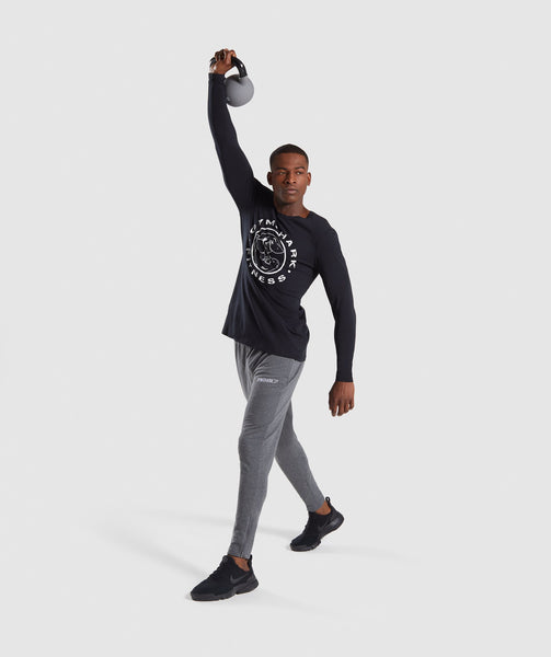 Gymshark Legacy Long Sleeve T-Shirt - Black 3