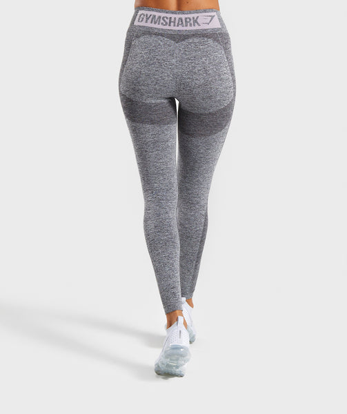 Gymshark Flex High Waisted Leggings - Grey/Pink 4