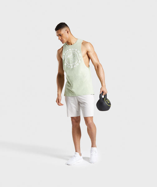 Gymshark Legacy Drop Armhole Tank - Light Green 2