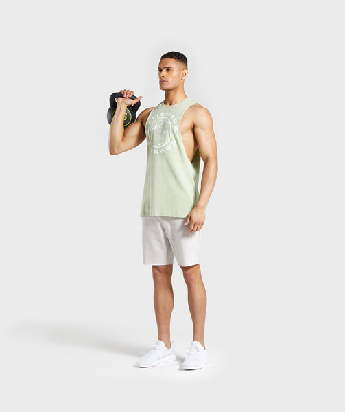 Gymshark Legacy Drop Armhole Tank - Light Green 3