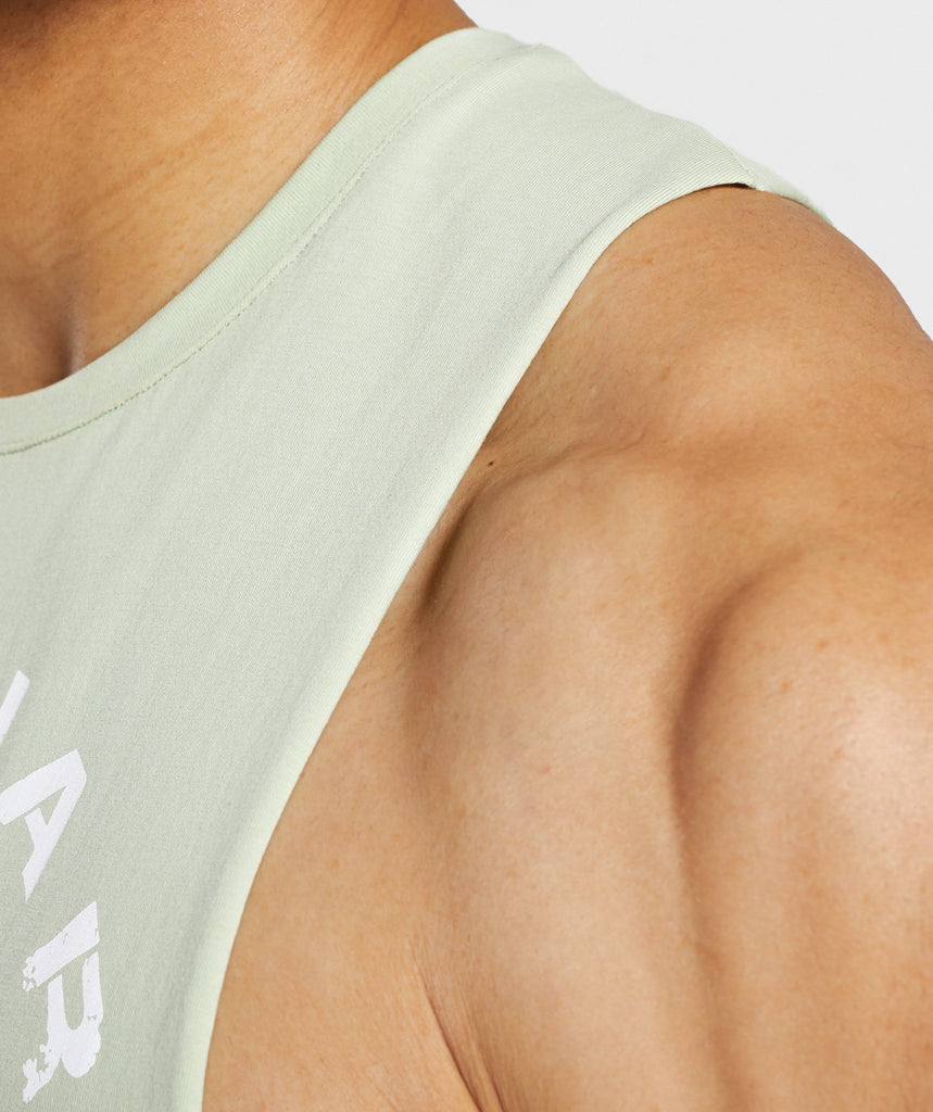 Gymshark Legacy Drop Armhole Tank - Light Green 6