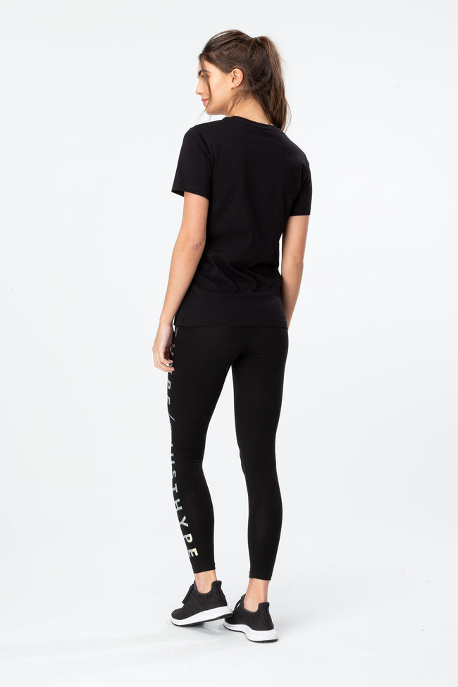 HYPE BLACK HOLO CIRCLE WOMEN'S T-SHIRT