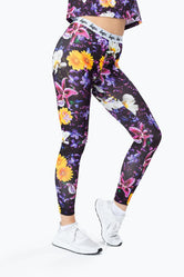 HYPE  PURPLE FLORAL WOMEN'S LEGGING