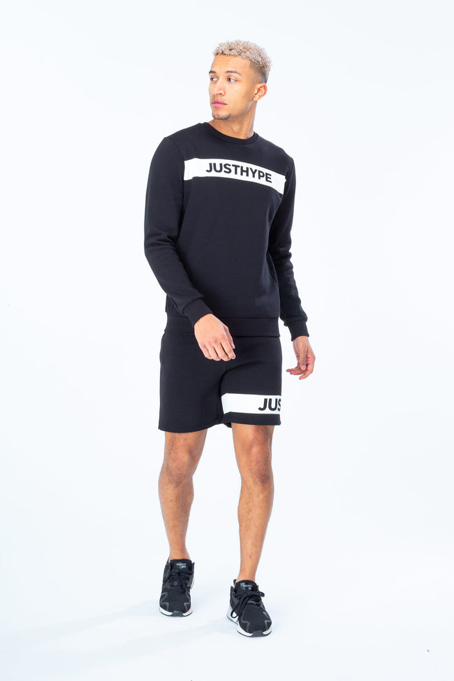 HYPE BLACK JUST HYPE STRIPE MEN'S SHORTS