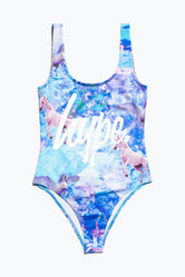 HYPE UNICORN DREAM SCRIPT KIDS SWIMSUIT