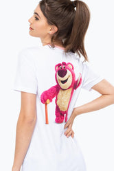 HYPE TOY STORY WHITE LOTSO RINGER WOMEN'S T-SHIRT