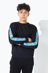 HYPE TOY STORY BLACK LOGO TAPING KIDS CREWNECK