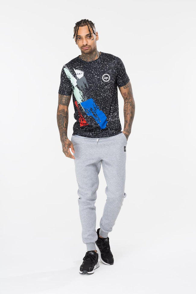HYPE BLACK ARTIST SPECKLE MEN'S T-SHIRT