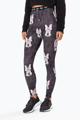 HYPE DISNEY BLACK JUSTHYPE MINNIE WOMEN'S LEGGINGS