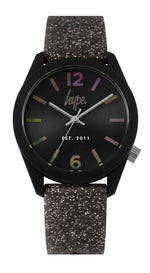 HYPE BLACK GLITTER WATCH