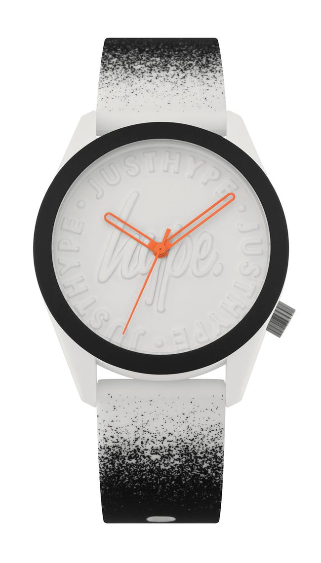 HYPE WHITE AND BLACK PAINT SPRAY WATCH
