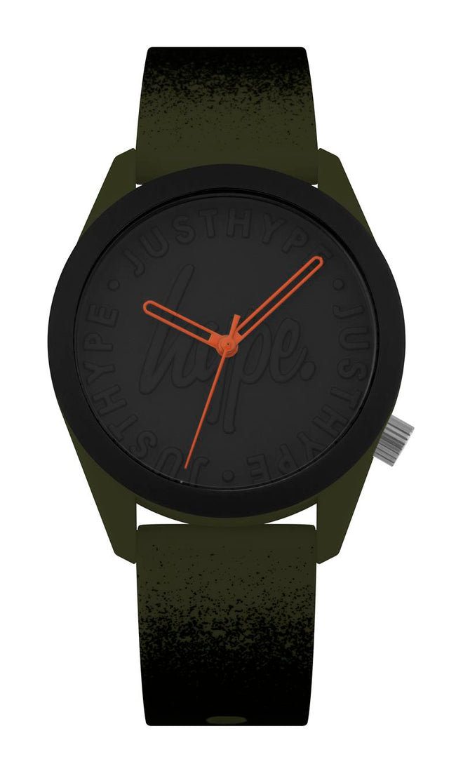 HYPE KHAKI AND BLACK PAINT SPRAY WATCH